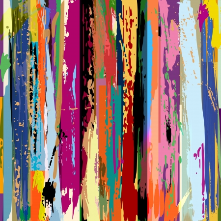 Illustration pour abstract background, with stripes, strokes and splashes  - image libre de droit