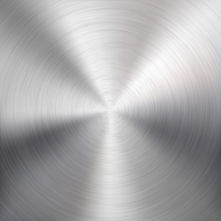Background with circular metal  chrome, iron, stainless steel, silver  brushed texture for internet sites, web user interfaces  ui  and applications  apps   Vector illustration