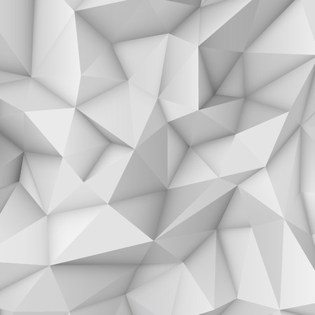 Illustration for White low polygonal triangular mosaic background for web, presentations and prints. Vector illustration. Realistic 3D design template. - Royalty Free Image