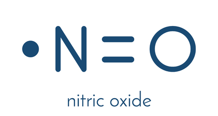 Illustration pour Nitric oxide free radical and signaling molecule. - image libre de droit