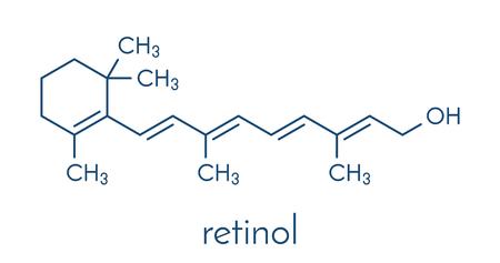 Illustration pour Vitamin A (retinol) molecule. Skeletal formula. - image libre de droit