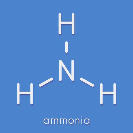 Foto de Ammonia (NH3) molecule. Skeletal formula. - Imagen libre de derechos