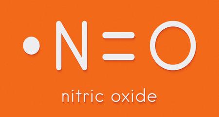 Foto de Nitric oxide (NO) free radical and signaling molecule. Skeletal formula. - Imagen libre de derechos