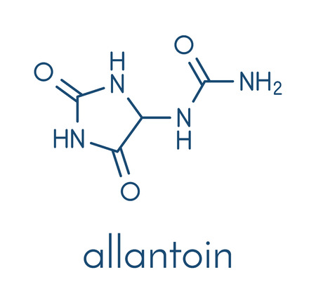 Illustration pour Allantoin molecule. - image libre de droit