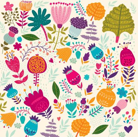 Illustration pour Vector floral background. - image libre de droit