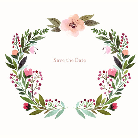 Illustration for Watercolor floral background. Holiday card, invitation. - Royalty Free Image
