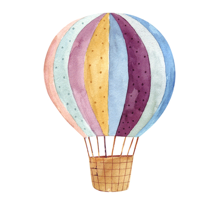 Photo for Watercolor balloon - Royalty Free Image