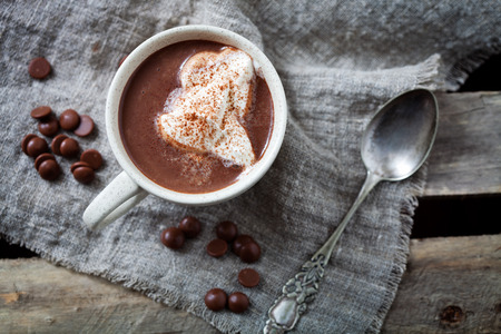 Photo for Hot chocolate with whipped cream - Royalty Free Image
