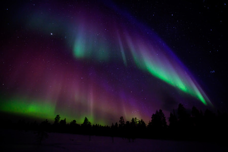 Photo for Beautiful Northern lights in Lapland of Finland - Royalty Free Image