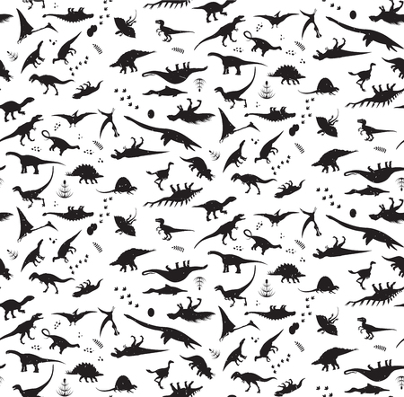 Illustration for Dinosaur pattern. - Royalty Free Image