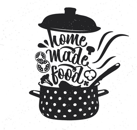 Illustration pour Hand drawn typography poster. Inspirational vector typography. Homemade Food. - image libre de droit
