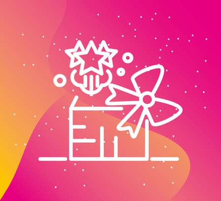 Ilustración de Birthday present gift box surprise concept vector illustration - Imagen libre de derechos