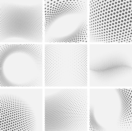 Foto de Set of dotted abstract forms. Vector illustration. - Imagen libre de derechos