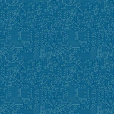 Ilustración de Seamless pattern  Computer circuit board  - Imagen libre de derechos