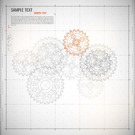 Illustration pour Abstract technology background - image libre de droit