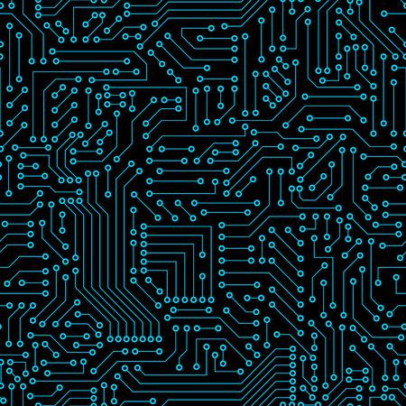 Illustration pour Seamless pattern. Computer circuit board. - image libre de droit