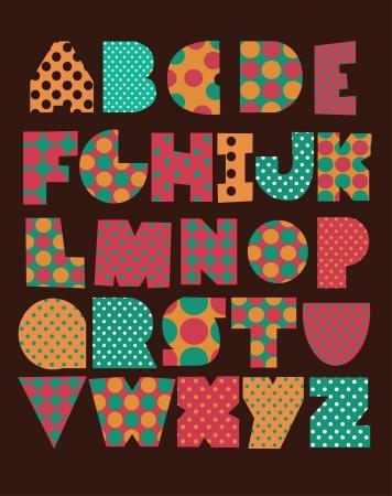 Illustration for cute alphabet design. vector illustration - Royalty Free Image