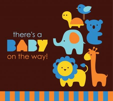 Ilustración de baby shower design. vector illustration - Imagen libre de derechos