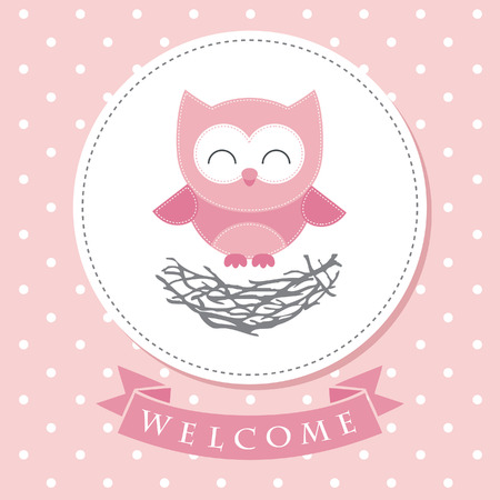 Ilustración de welcome baby card design. vector illustration - Imagen libre de derechos