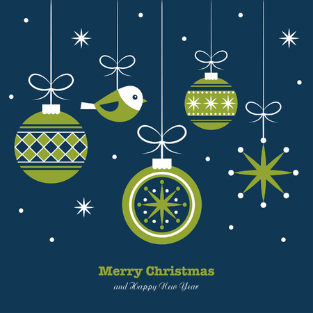 Illustration pour merry christmas card design. vector illustration - image libre de droit