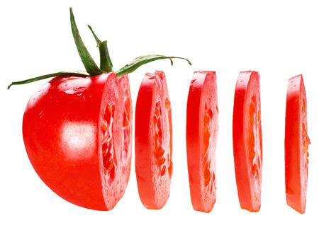 Photo for sliced tomato isolated on white background - Royalty Free Image