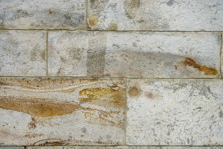 Photo for texture of wall from an old badly worked stone closeup - Royalty Free Image