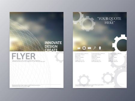 Illustration pour vector modern flyer brochure design template for use as coperate presentation or product advertise - image libre de droit