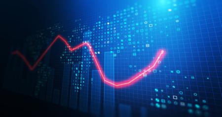 Foto de financial stock market graph illustration ,concept of business investment and stock future trading.   - Imagen libre de derechos