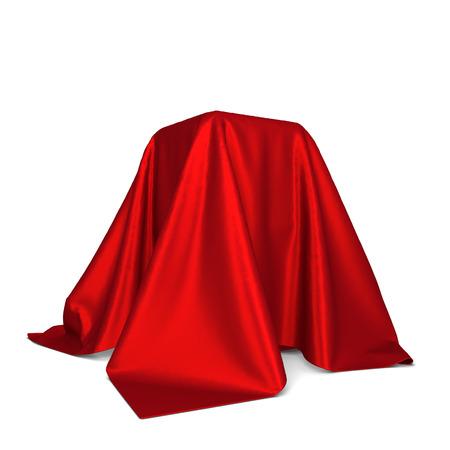 Foto de Box covered with cloth. 3d illustration isolated on white background - Imagen libre de derechos