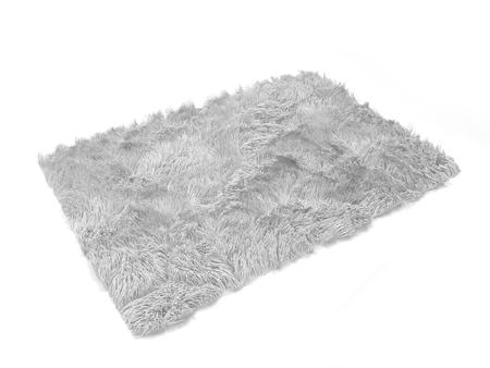 Foto de Fluffy carpet. 3d illustration isolated on white background - Imagen libre de derechos