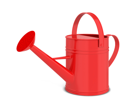Photo pour Watering can. 3d illustration isolated on white background  - image libre de droit