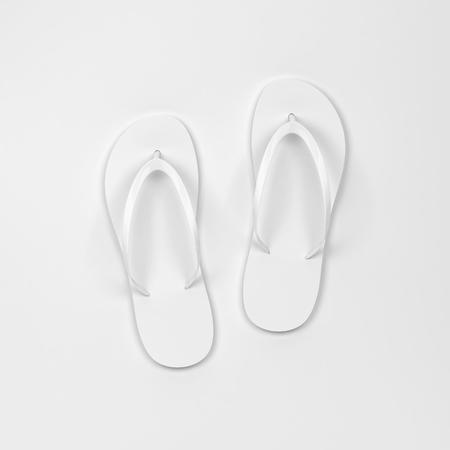 Photo for Blank pair of flip flops mockup. 3d illustration - Royalty Free Image