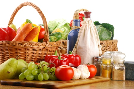 Composition with vegetables and fruits