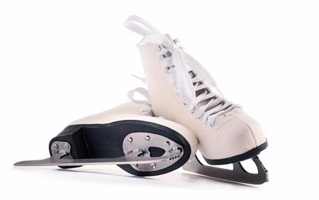 Foto de Pair of figure skates isolated on white background. - Imagen libre de derechos
