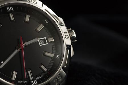 Photo pour luxury man accessory watch detail, chronograph macro - image libre de droit