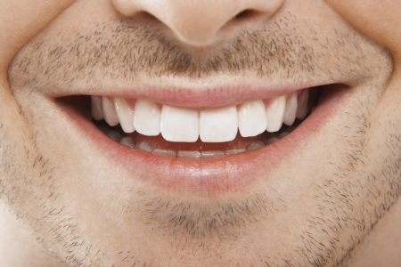 Photo for Man's Mouth Smiling - Royalty Free Image