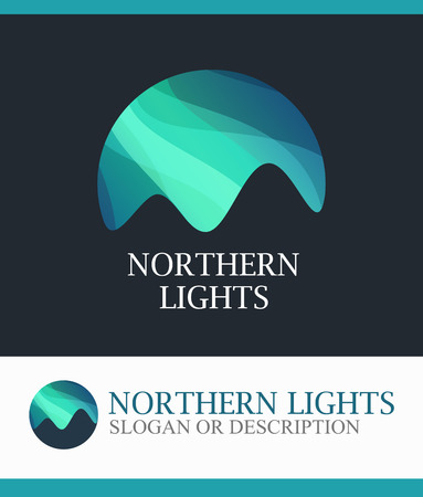 Illustration pour Northern Lights, Vector Logo isolated on white background - image libre de droit