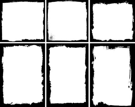 Ilustración de Set of square and rectangular textured frames - Imagen libre de derechos