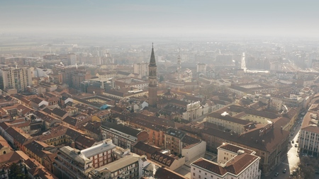 Photo for Aerial view of Alessandria cityscape, Italy - Royalty Free Image