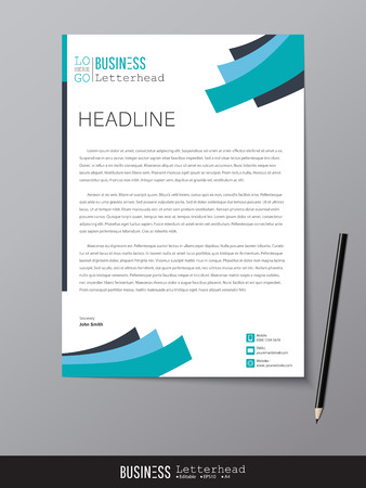 Illustration for Letterhead design template and mock up minimalist style vector - Royalty Free Image