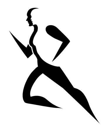 Ilustración de Running, symbol of a man running, vector illustration - Imagen libre de derechos