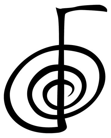Illustrazione per ChoKuRei - The power symbol in Reiki one - Immagini Royalty Free