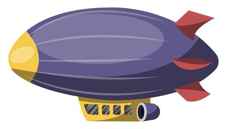 Illustration pour Big purple aircraft vector illustration on white background. - image libre de droit