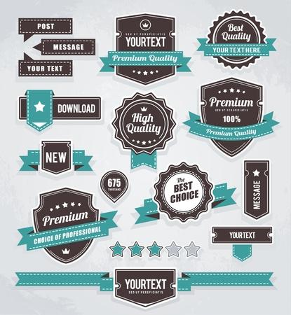 Photo pour set of retro labels, buttons and icons.  - image libre de droit
