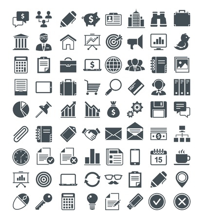 Illustration for Set of usefull icons, pictograms and signs. - Royalty Free Image