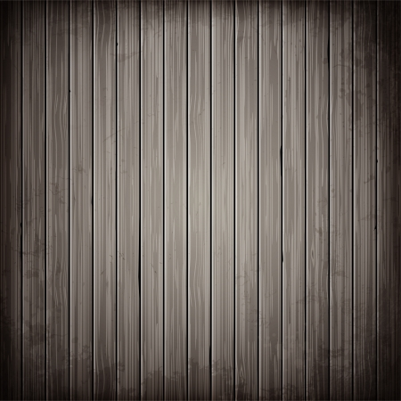 Illustration pour Wooden grey plank background. Realistic wood texture illustration. - image libre de droit