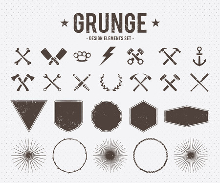 Illustration pour Set of vector grunge design elements - image libre de droit