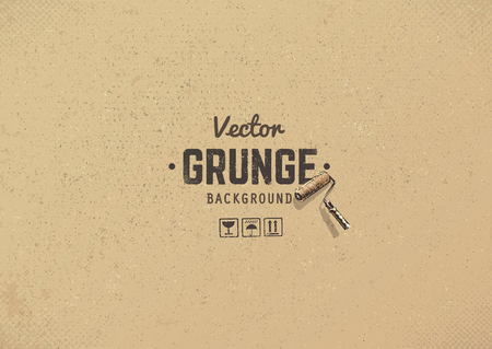 Illustration for Carton textured grunge background. Grain noise texture. - Royalty Free Image