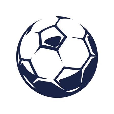 Ilustración de Vector soccer ball, isolated on white background. - Imagen libre de derechos