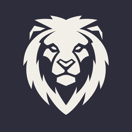 Illustration pour Lion looking danger. Lion head icon. Lion vector logo template. - image libre de droit